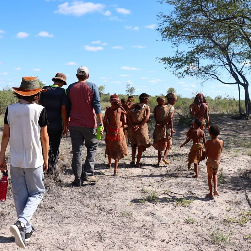 Walking in the Nyae Nyae Conservancy
