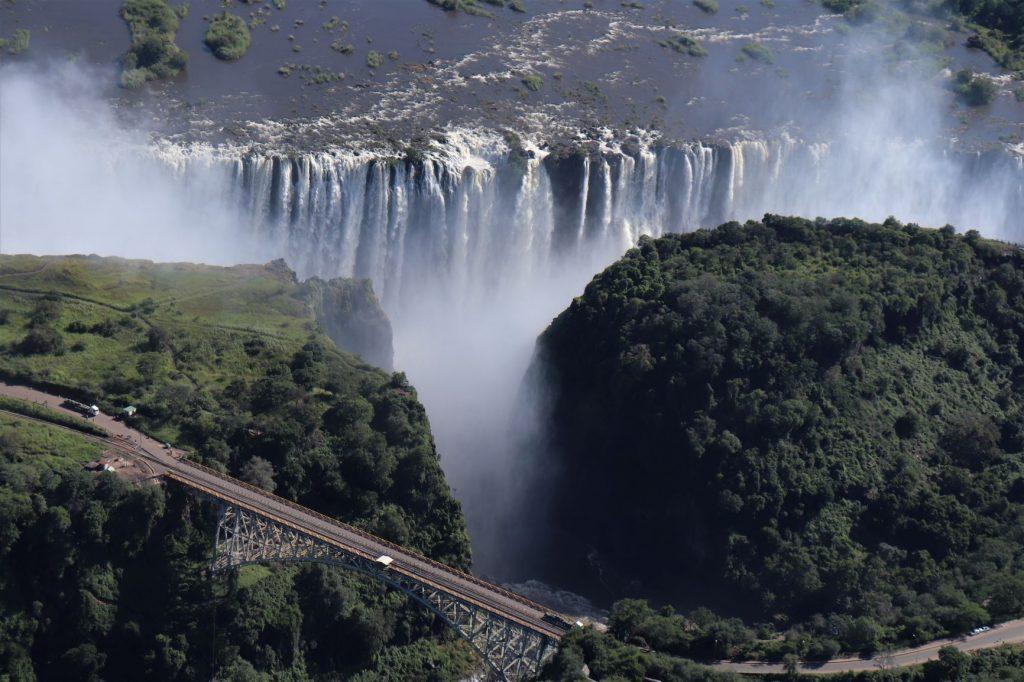 Victoria Falls with bridge, Flight of Angels
