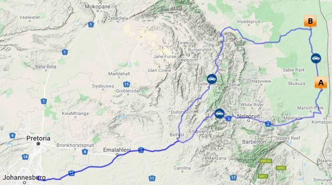 Kruger magic map