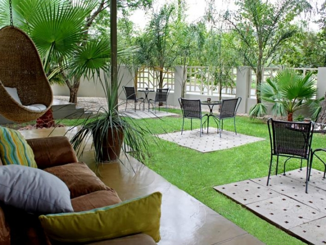 Elegant Guest House, Windhoek, gardens, Namibia Family Holiday