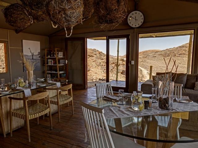 Cape to Windhoek - Kanaan Desert Retreat, southern Namibia (Standard & Upgrade), dining room