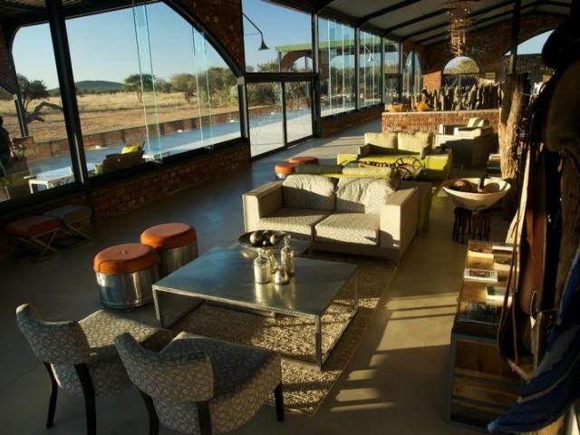 Okonjima Plains Camp, Etosha, Namibia family holiday, lounge and terrace