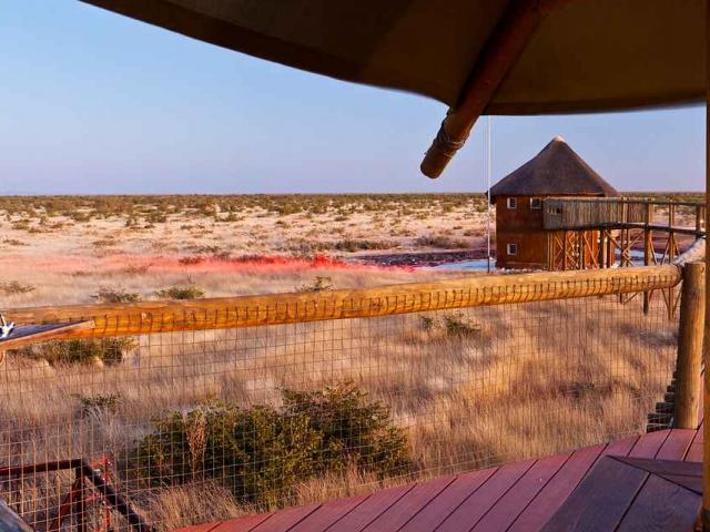 Complete Namibia - Olifantsrus Floodlit Waterhole, Etosha