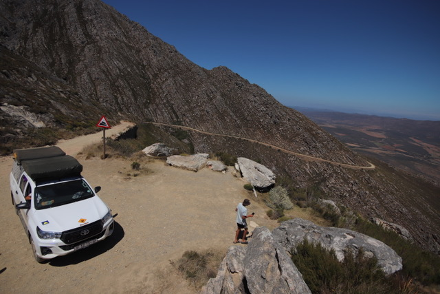 Fully equipped camping 4x4 vehicle - Swartberg Pass, South Africa.