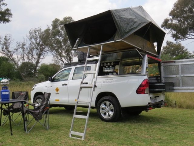 Your home on the road - fully equipped camping 4x4 vehicle.