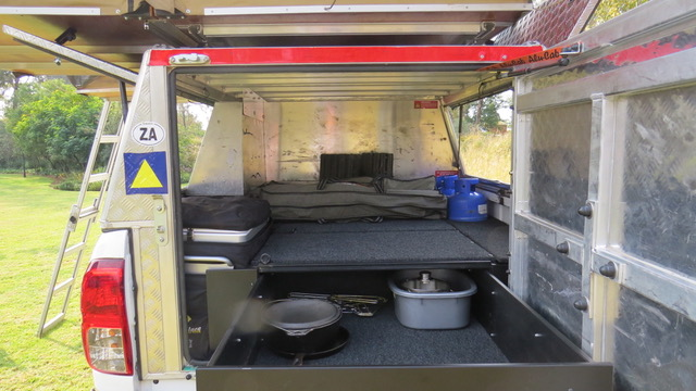 Lots of luggage space - fully equipped camping 4x4 vehicle.
