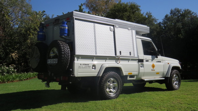 Bushcamper fully equipped camping 4x4 vehicle, also available as a Landcruiser.