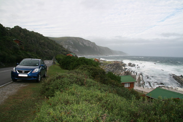 A sedan is perfect for the Garden Route - here at Storm's River.