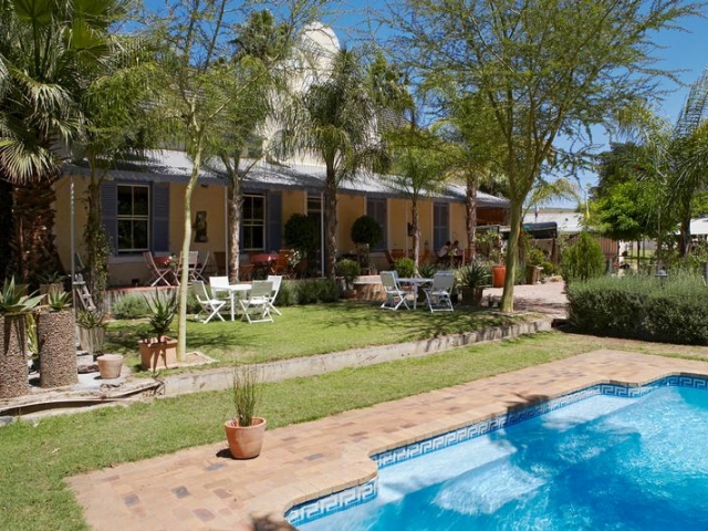 Cape to Windhoek - Yellow Aloe Guesthouse, Clanwilliam (Upgrade), gardens and pool
