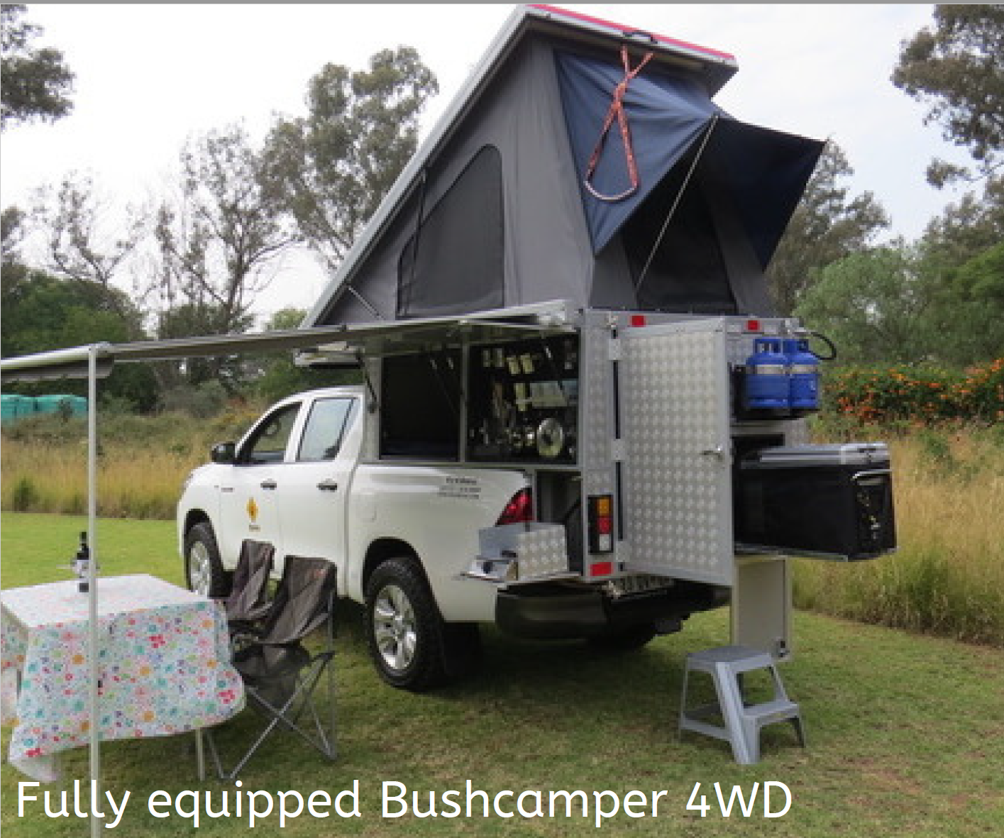 Fully equipped bushcamper 4WD