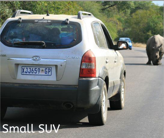 Small SUV self drive vehicle