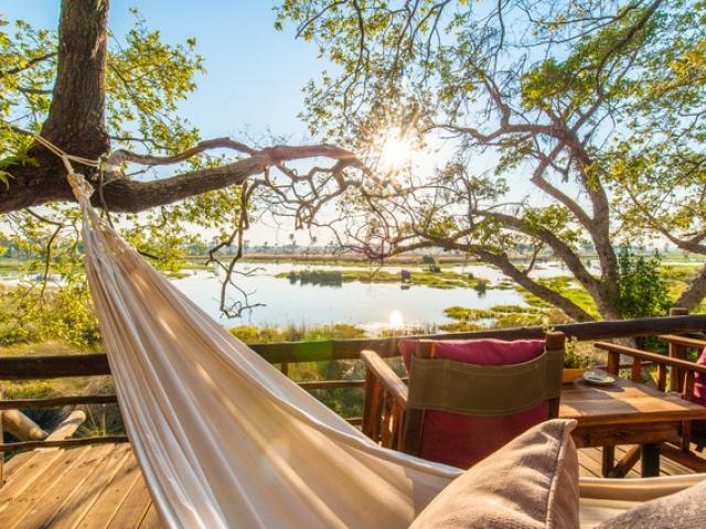 Delta Camp, Okavango Delta Family Tour, relax overlooking the Delta