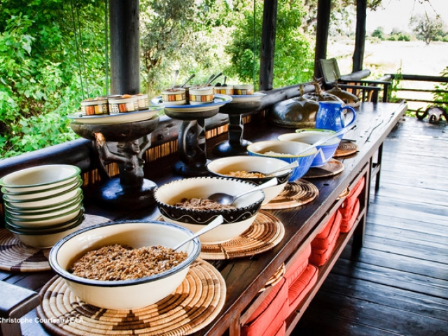 Delta Camp, Okavango Delta Family Tour, dining room