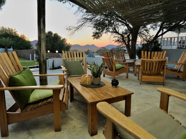 Namibia Family Holiday, Elegant Desert Lodge, Sossusvlei, terrace