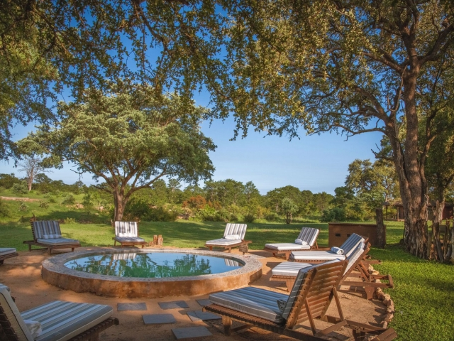 Shindzela Tented Camp, Kruger, pool, Kruger luxury safaris