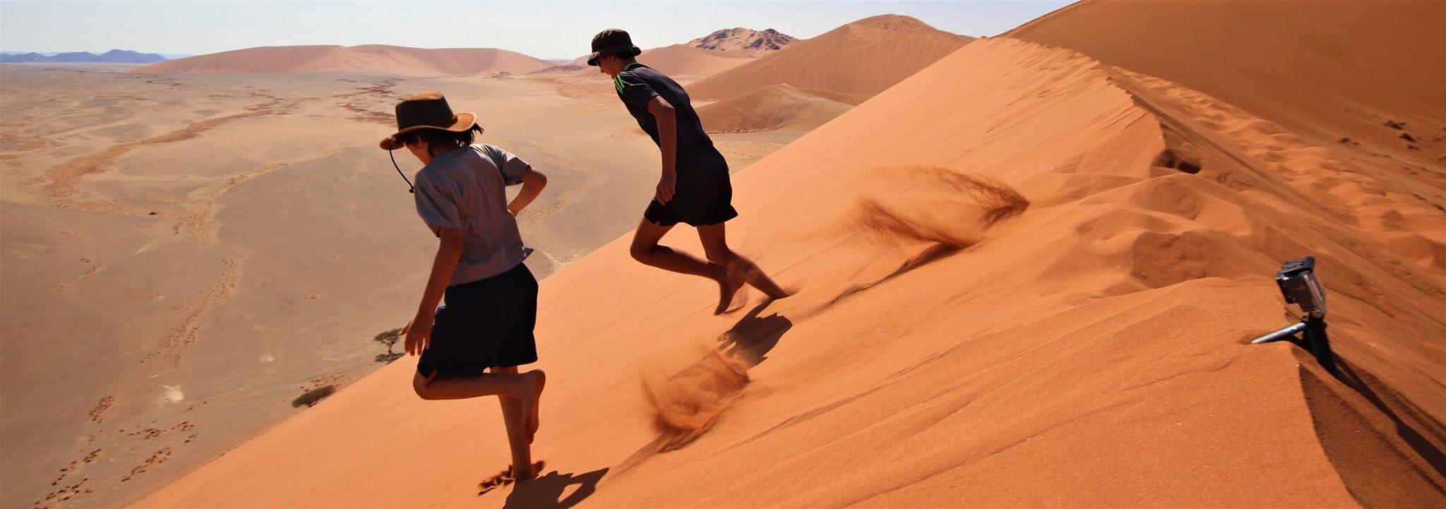Sossusvleii, Namibia, Fun on the Dunes!