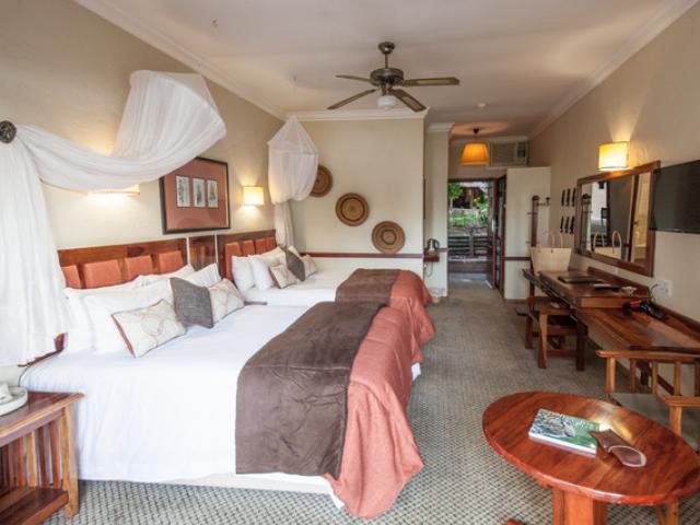 Chobe Safari Lodge, family room, Victoria Falls Chobe family holiday