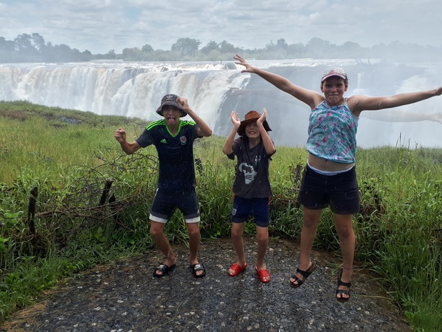 Kids love the Victoria Falls!